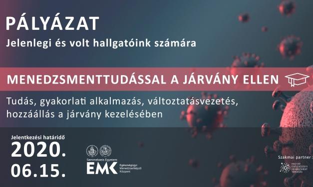 A Semmelweis Egyetem Egészségügyi Menedzserképző Központ pályázati felhívása
