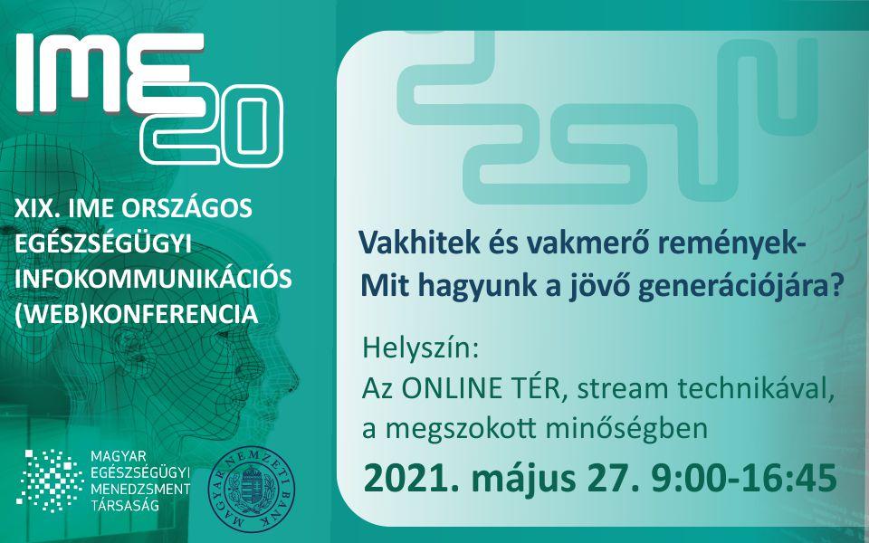 XIX. IME Országos Egészségügyi Infokommunikációs konferencia a MEMT szervezésében