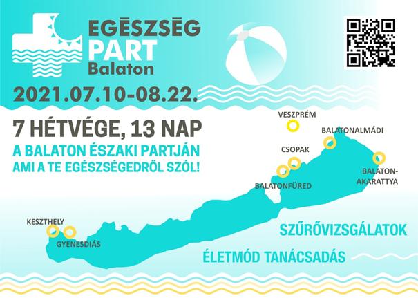 Egészségügyi szűrőprogram sorozat indul a Balaton mellett minden nyári hétvégén